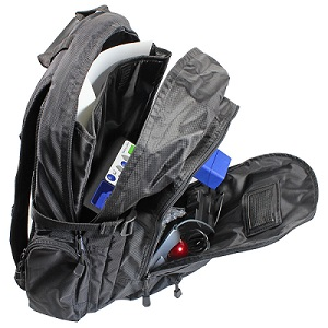 ReadEasy Move's included custom carry case shown zipped up, ready for transport.